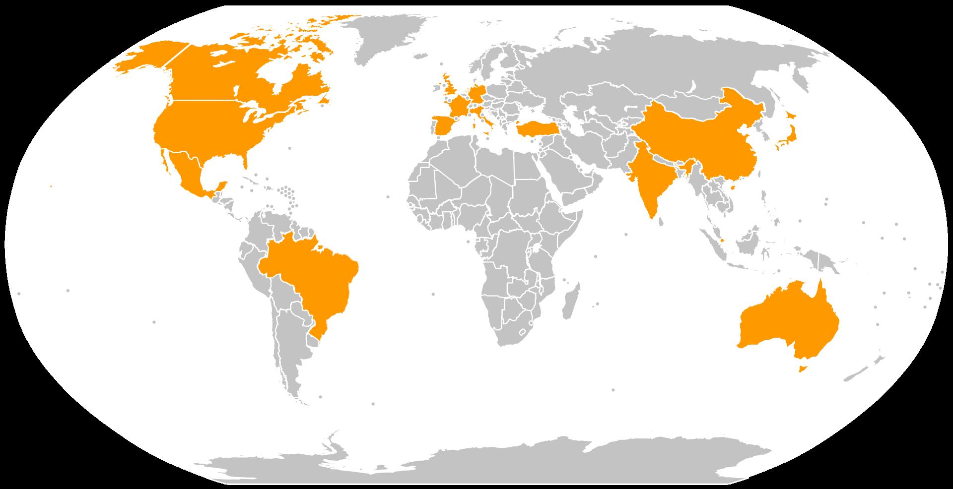 Amazon-Websites auf der ganzen Welt