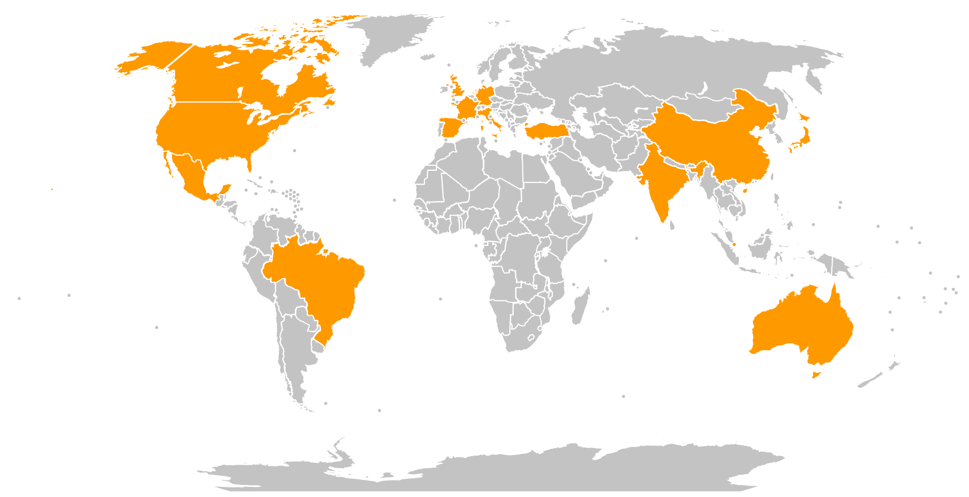 Amazon websites around the world