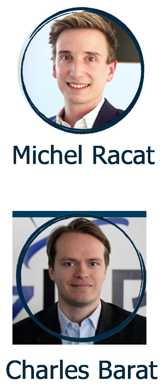 Michel Racat et Charles Barat